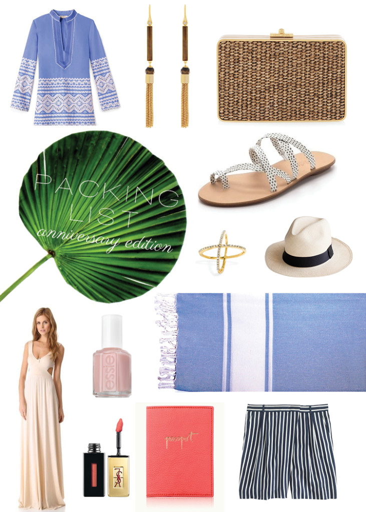 Style island getaway packing list the new naples for Where to go for anniversary trip