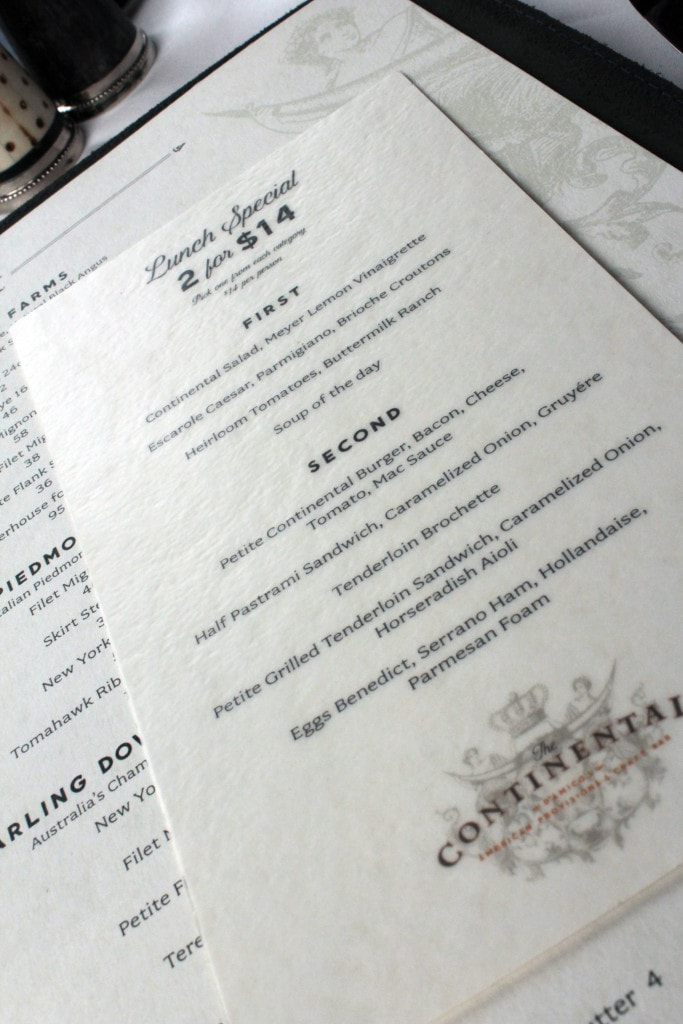 Dining: 2 for $14 at The Continental
