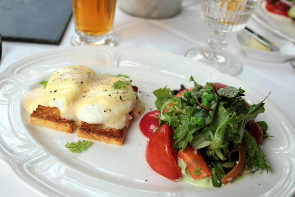 Eggs Benedict with the Continental Salad