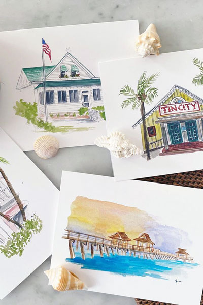 watercolors by Kyra Wells